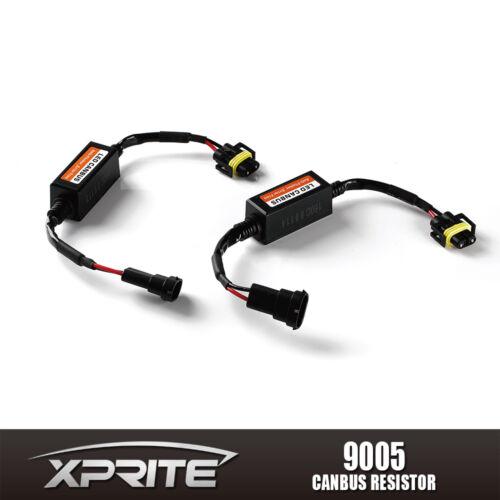 2pc 9005/9006 LED Headlight Canbus Error Anti Flicker Resistor Canceller Decoder