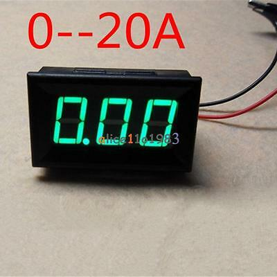 New Green Dc 0 To 20a Led Panel Meter Mini Digital Ammeter