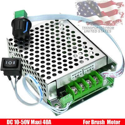 Pwm Dc Motor Speed Controller 10v-50v 40a Cw Ccw Reversible Switch 12v 24v