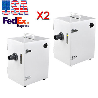 Usa2x Dental Lab 370w Digital Single-row Dust Collector Vacuum Cleaner Ups Fda