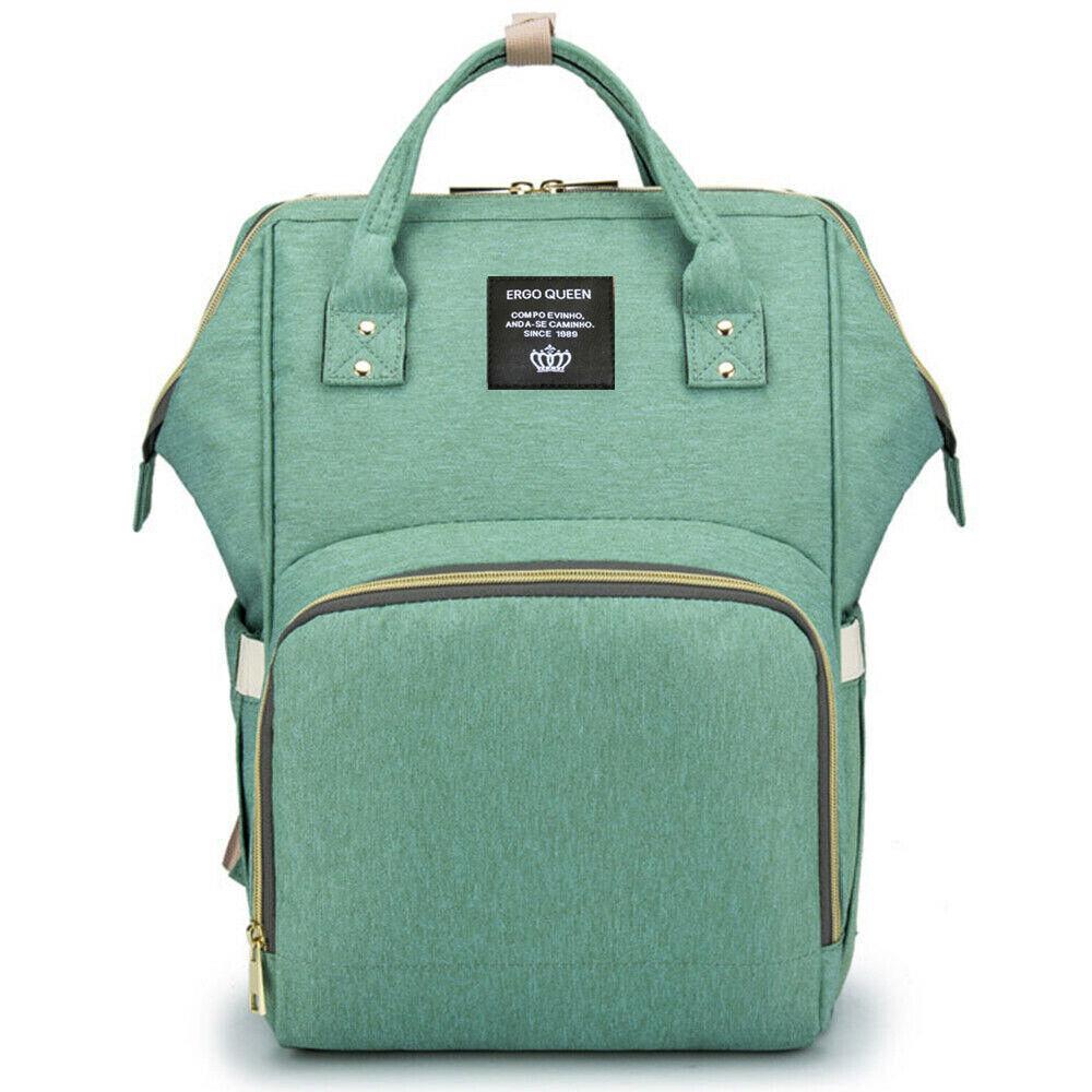 Ergo Diaper Bag Backpack Mummy Maternity Nappy Large Capacity Baby Bag Travel  Light Green