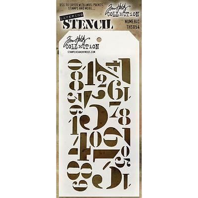 Tim Holtz Layering Stencil ~ NUMERIC ~ THS054 ~ Stampers Anonymous