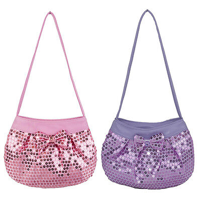Girl Evening Wedding Dress up Bag Handbag Purse Shining Sequin Embleshiments Bow
