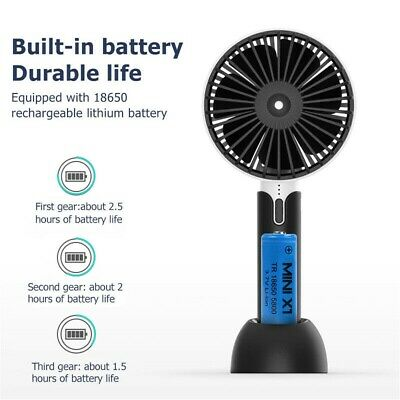 Mini Portable USB Hand-held Fan Desk Cooler Cooling Rechargeable Air Conditioner