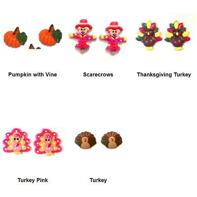 THANKSGIVING HOLIDAY Resin Flatback FALL Cabochon Embellishments for Crafts