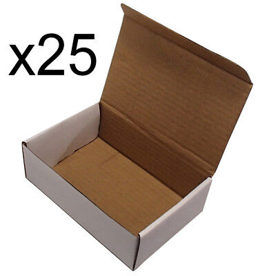 25 6x4x2 White Cardboard Packing Mailing Shipping Boxes Corrugated Box Cartons