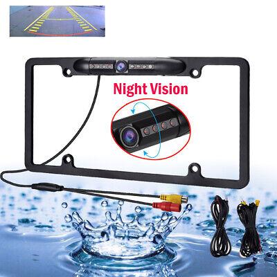 Waterproof Night Vision HD Wide Angle License Plate Car Rear View Backup Camera