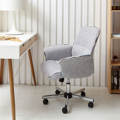Mid Back Desk Task Chair Home Office Comfortable Padded Seat Swivel Chairs Gray
