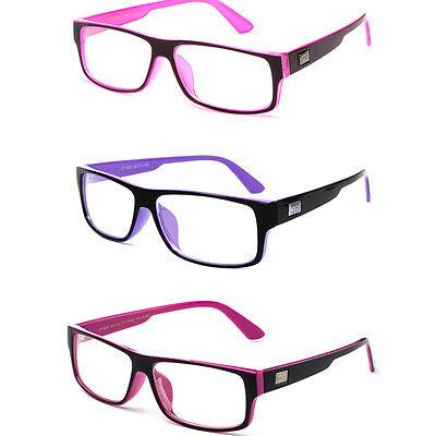 Clear Lens Fashion Glasses Trendy Designer Rectangular Style Frame (Trendy Glasses)