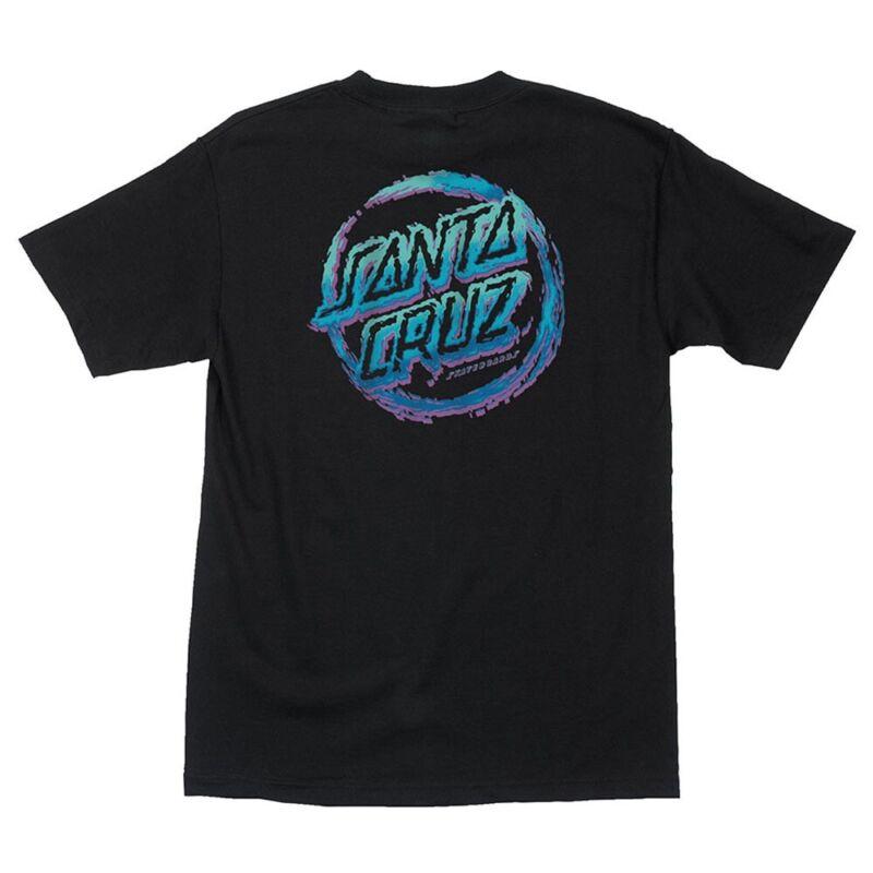Santa Cruz THROWDOWN DOT Skateboard T Shirt BLACK MEDIUM