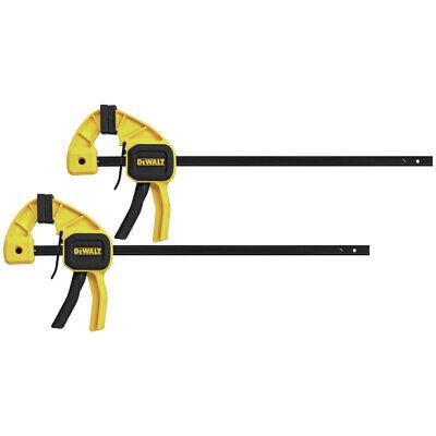 DEWALT DWHT83158 Medium Trigger Clamp with 12 inch Bar 2pk