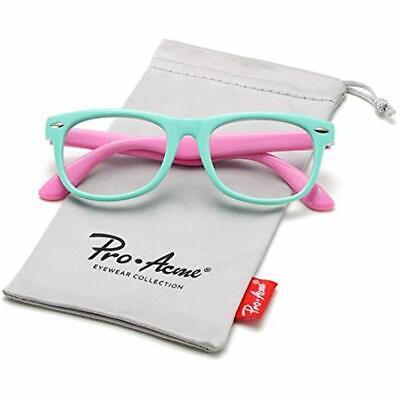 TPEE Rubber Flexible Kids Nerd Glasses Clear Lens Geek Fake Costume (Age 3-10)