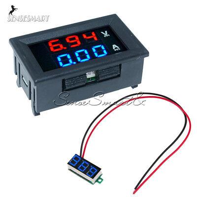 Dc 100v 10a Dual Digital Bluered Led Voltmeter Ammeter Amp Volt Amp Meter