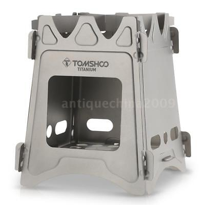 TOMSHOO Outdoor Portable Lightweight Titanium Camping Folding Cooking Wood Stove