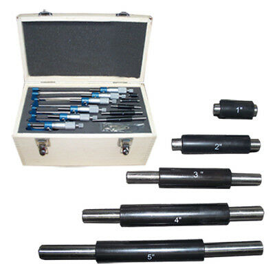 0-6 Precision Outside Micrometer Set 0.0001 Carbide Standards 6 Pc Set New