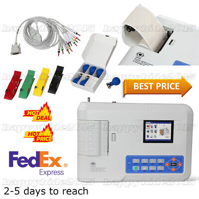 3-channel 12-lead Ecg Ekg Machine Electrocardiograph Software
