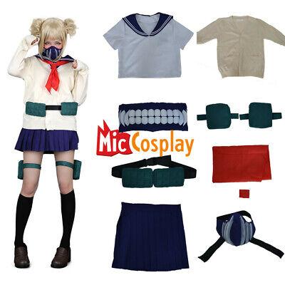 Toga Costume For Women (Himiko Toga Cosplay My Hero Academia Costume JK Sailor School Uniform Sweater)