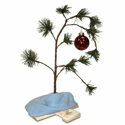 18 Inch Peanuts Charlie Brown Christmas Tree with Linus Blanket and Ornament
