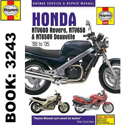 Honda NTV600 Revere NTV650 NTV650V Deauville 1988-2005 Haynes Workshop Manual