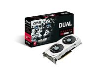 Asus AMD Radeon Dual RX480 8GB - White. Graphics Card / Video Card / GPU