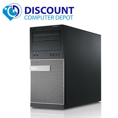 Dell i7 Desktop Computer Tower Windows 10 PC Quad Core CPU 8GB 500GB HD Wifi