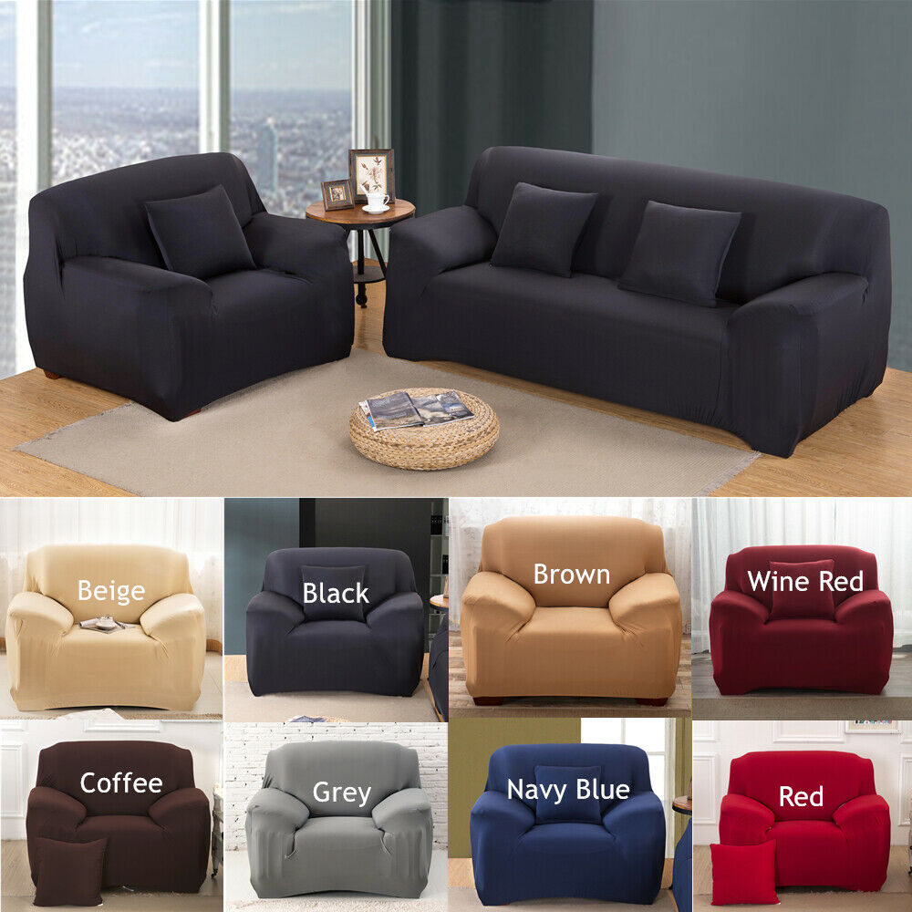 1/2/3/4 Seater Stretch Chair Sofa Covers Couch Cover Elastic