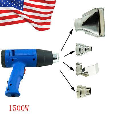 Usa Heat Gun Hot Air Gun Dual Temperature4 Nozzles Power Tool 1500 W Heater Gun