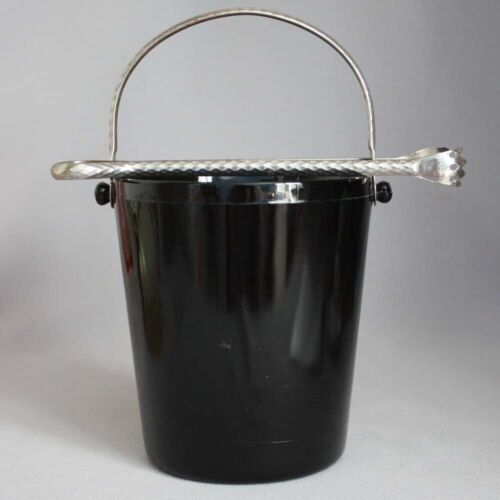 DEPRESSION GLASS US GLASS Black Amethyst ICE BUCKET HANDLE TONGS MATCH Numbered