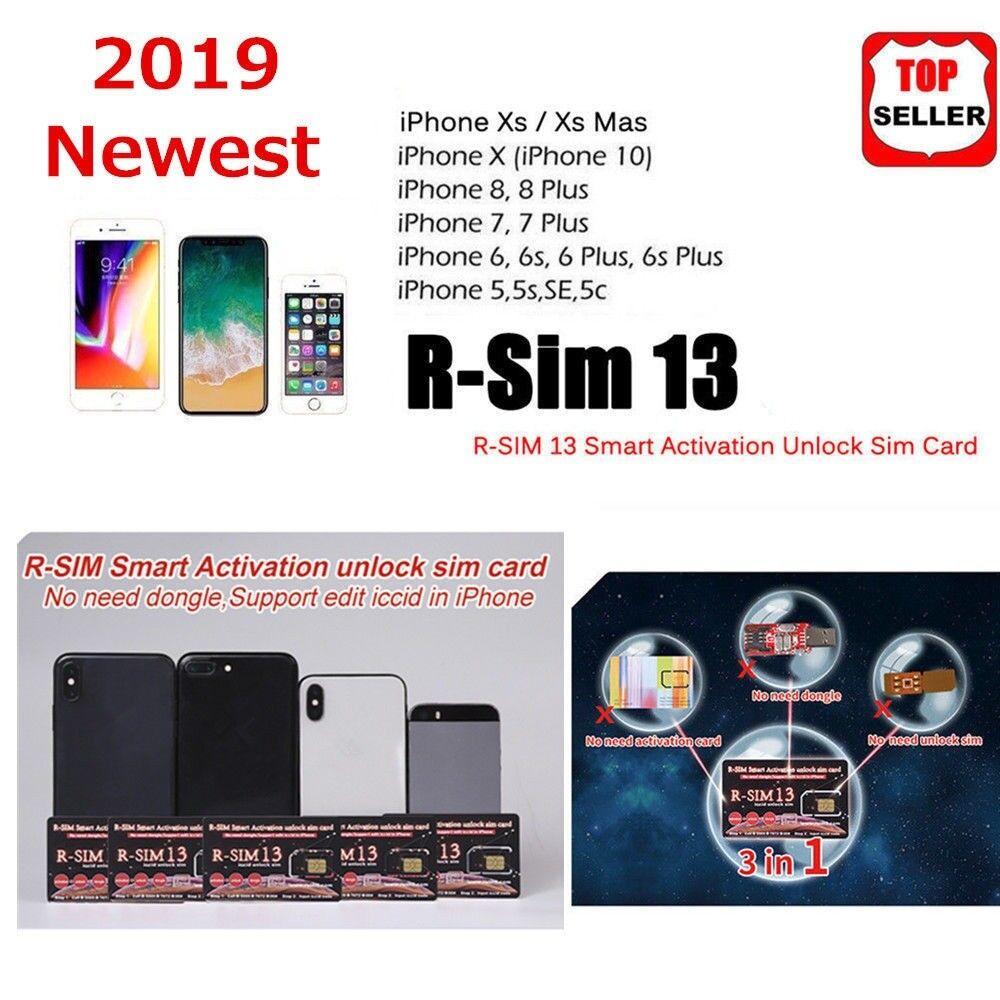 f88c746107c PRO RSIM 13 2019 R-SIM SUP Nano Unlock Card FOR iPhone XS/8/7/6/6S 4G IOS  11 12