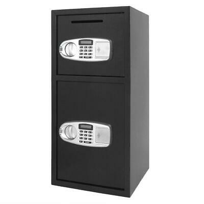Double Door Iron Office Security Lock Digital Cash Gun Safe Depository Box