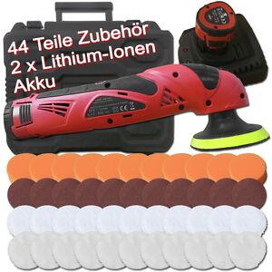 Akku Poliermaschine 12V Lithium-Ion Schleifmaschine KFZ Schleifer Auto Polierer
