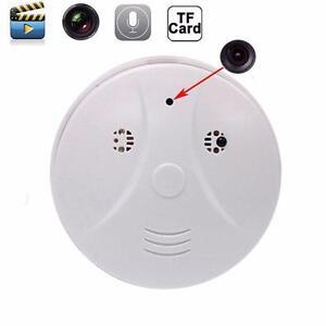Smoke Detector Cam Hidden Surveillance Security Spy Camera/Recorder