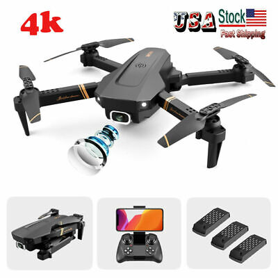 2020 Newly 4D-V4 Mini RC Quadcopter Drone WiFi fpv Drone 4K HD Dual Camera
