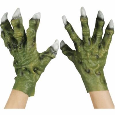 Green Monster Hands Latex Gloves Adult Halloween Costume Goblin Dinosaur Claws