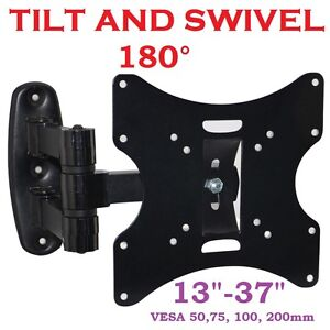 3D-LCD-TV-SWIVEL-TILT-WALL-MOUNT-BRACKET-15-17-19-22-26-32-37-VESA-75-100-200mm