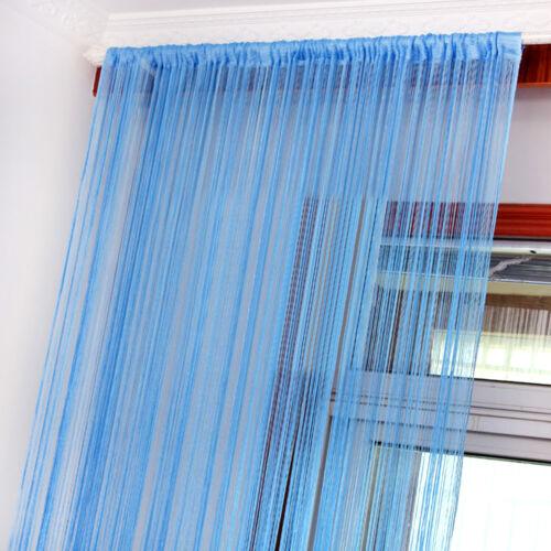 string curtain panels door fly screen room divider voile net curtains ebay. Black Bedroom Furniture Sets. Home Design Ideas