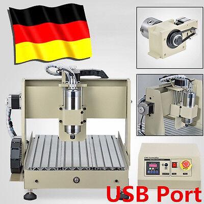 USB 4Axis 3040T CNC Router Graviermaschine Spindlemotor Fraesmaschine MACH3 800W