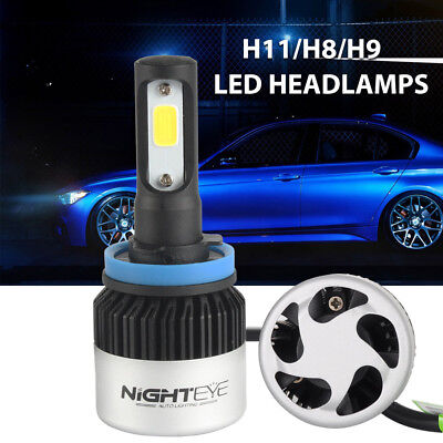 2x Nighteye LED Headlight Bulbs All In One Conversion Kit  H11H8H9 72W 9000LM