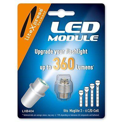 LED LiteXpress Upgrade Modul 360 Lumen für MAGLITE 3-6 C/D-Cell Taschenlampen Maglite Led Upgrade Modul