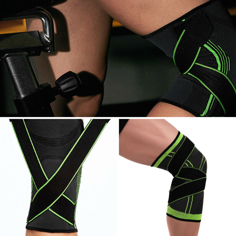 2*Knee Sleeve Support Compression Sports Gym