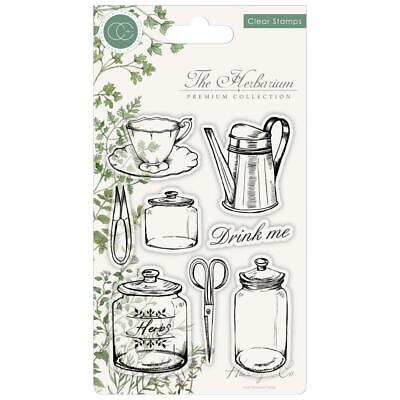 Craft Consortium A5 Clear Stamps The Herbarium Collection Utensils Collection Clear Stamps