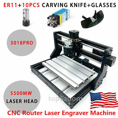 Cnc 3018 Engraving Router Carving Milling Cutting Diy Machine5.5w Laser Module