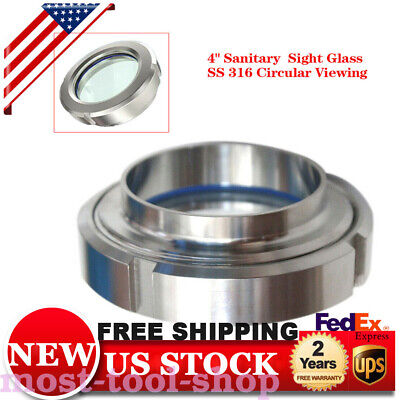 4 Flow Stainless Steel 316 Tri Clamp Sanitary Sight Glass 1.6 Mpa High Quality