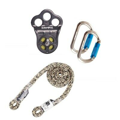 Dmm Hitch Climber Pulley Kit W 10mm Notch Wrap Star Prusik 2 Oval Carabiners