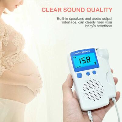 Fetal Doppler Ultrasound Baby Heartbeat Detector Pregnant Doppler Monitor 2.5mhz