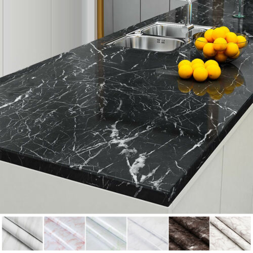 Home Decoration - Marble Paper Self Adhesive Peel & Stick Wallpaper Kitchen Countertop Removable