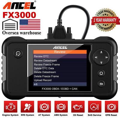 ANCEL FX3000 Automotive OBD2 Scanner Check Car Engine Transmission SRS ABS Reset