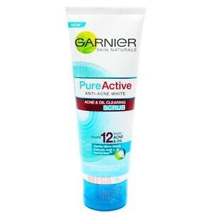 Garnier Skin Naturals Pure Active ANTI-ACNE WHITE ACNE OIL CLEARING SCRUB 100ml