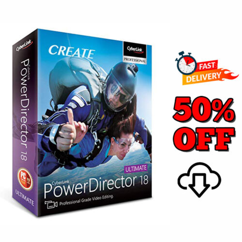 CyberLink PowerDirector Ultimate 18 🔥 Lifetime Activation License 10s DLVRY 🔥