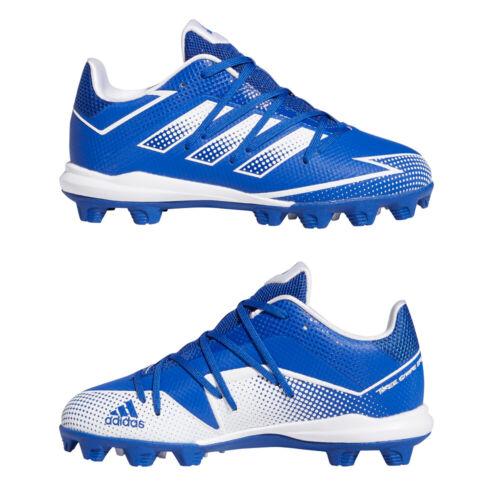 Adidas Afterburner 7 Blue Youth Baseball Cleats Royal/White